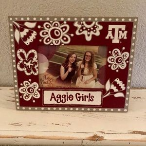 Texas A&M wooden picture frame